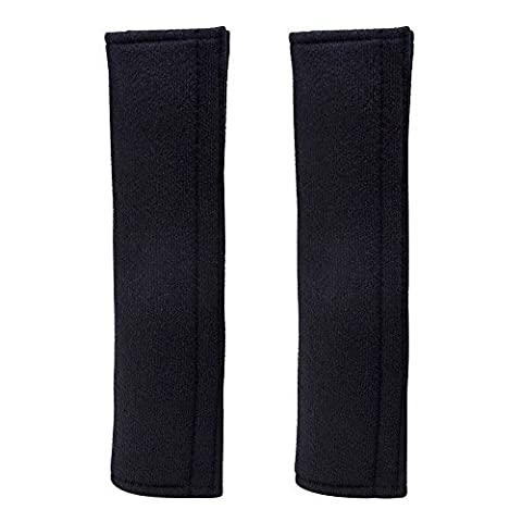 eBoot 1 Pair Car Seat Belt Strap Covers Shoulder Pad (Black)