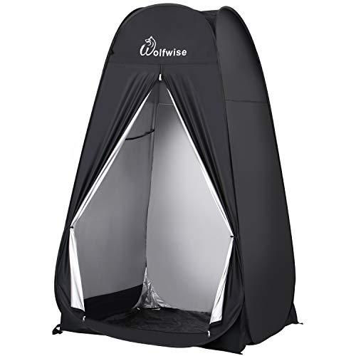 WolfWise Pop Up Tente Tente de Douche Toilette Tente Protection pour Salle de Bain Portable avec Sacoche de Rangement pour Extérieure Intérieure Camping randonnée