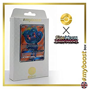 Marshadow-GX 137/147 Full Art - #myboost X Sun & Moon 3 Burning Shadows - Box de 10 cartas Pokémon Inglesas