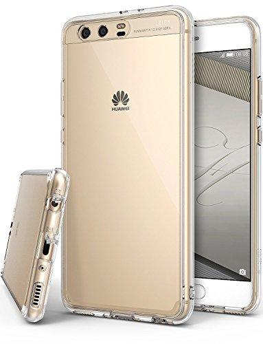 Custodia Huawei P10 Plus, Ringke [FUSION] Retro PC Trasparente Respingente in TPU [Tecnologia Protezione Cadute/Assorbimento Urti] Bordi Sollevati Protezione Copertura - Chiara