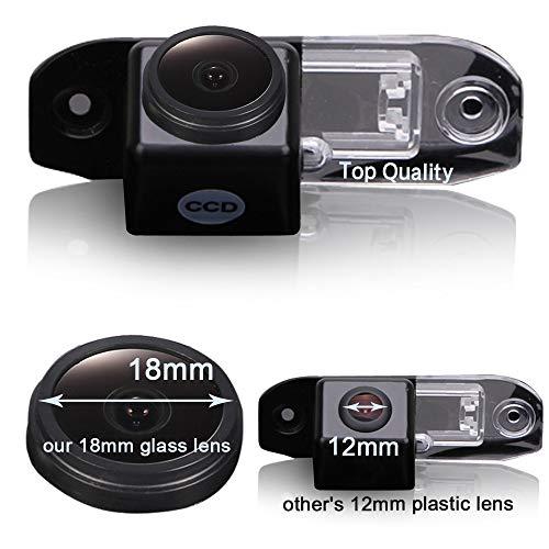HDMEU HD Color CCD Wasserdicht Auto Rückfahrkamera 170° Betrachtungswinkel Rückfahrkamera für Volvo S40 S40L V40 V50 S60 S60L V60 XC60 C70 V70 XC70 S80 S80L XC90 1995-2017 Color Ccd Wasserdichte Kamera