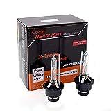 Cocar Auto D4S Xenon Scheinwerfer HID Lampen 6000K Mehr Licht Helligkeit Diamant Weiß Scheinwerfer mit Metall Chassis 35 Watt 12 V (2 Lampen)