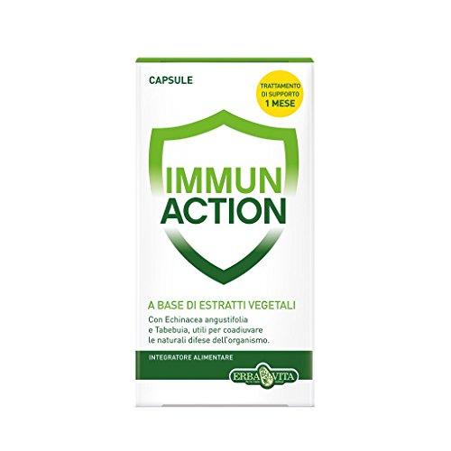 Erba Vita Integratore Alimentare Immun Action - 60 Capsule in Blister