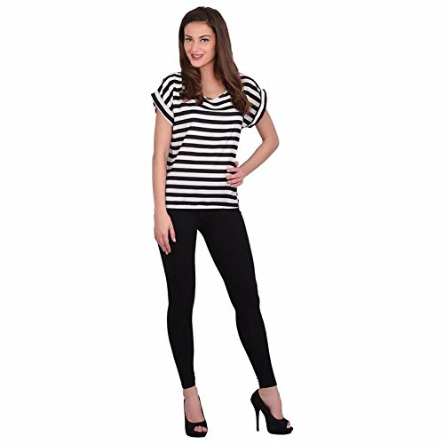 Leggings Jeggings for Women Girls Premium Quality Cotton Polyster Western Wear Stretchable Ankel Length Solids Color Free Size Compatible for Sports-wear, Yoga-wear, Arobics-wear , Party-wear, Casual-wear Black XXXL  available at amazon for Rs.299