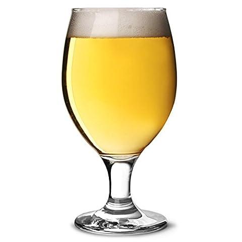 Misket Service Calice Verres à Bière 396,9gram/400ml–Lot de 6verres à pied à verres à bière, verres à bière, Craft Verres à Bière, européens, verres à bière