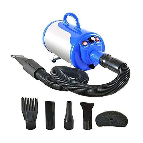ZNN Pet Hair Dryer - Hundehaar Beauty Hair Dryer Pet Hair Blower Trockner 2800W High Power Noise Reduction Geschwindigkeit einstellbar mit Heizung und 4 Düsen