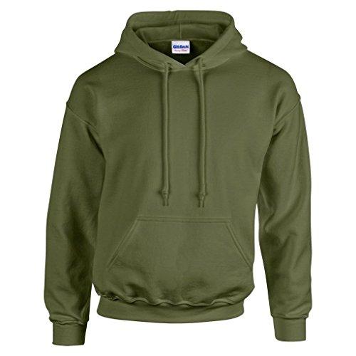 Gildan Heavy Blend Felpa con cappuccio gd057 Verde militare