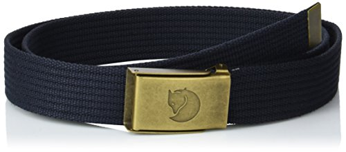 Fjällräven Herren Canvas Brass Belt 3 cm Gürtel Dark Navy