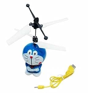 KIDS WORLD Flying Doraemon Aircraft Gesture Sensing Toy Induction Control Infrared Sensors Flying Air Gesture Doraemon Aircraft Bamboo Dragonfly