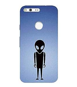 HiFi Designer Phone Back Case Cover Google Pixel :: Pixel ( Alien Mars Attack Logo )