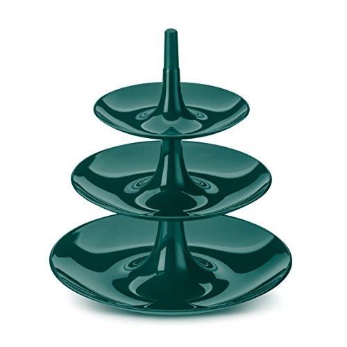 Koziol Babell L Présentoir, thermoplastique Plastique Vert émeraude, 31,4 x 31,4 x 34 cm, 3180649