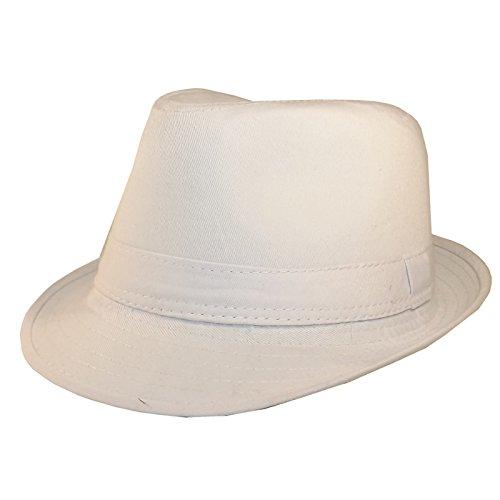 Chapeau-tendance - Chapeau Trilby Blanc - 56 - Mixte