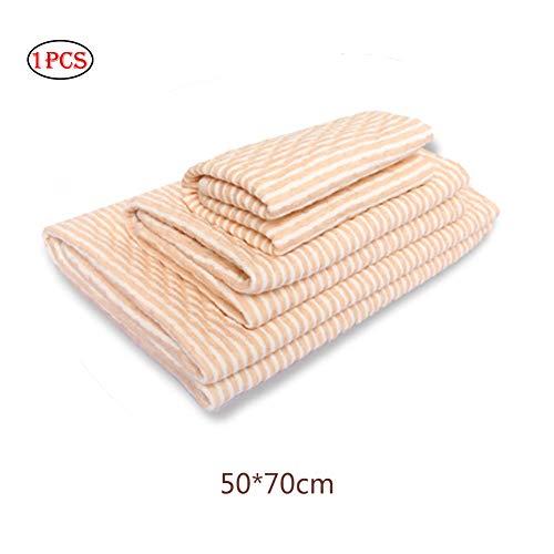 NiceButy 1pc pannolino impermeabile Fasciatoio cotone del bambino bagnare il letto Pad Pee materasso Foglio Protector for Kids Vecchio Persone per piazze Culla Passeggino (20 * 28in arancione)