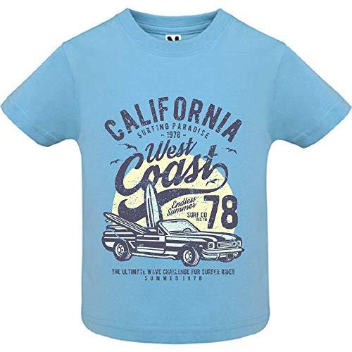 T-Shirt - California West Coast - Bébé Garçon - Bleu - 2ans