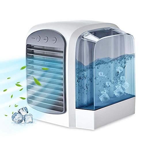 Rziioo Persönlicher Klimaanlagenlüfter tragbar mit eingebautem warmem