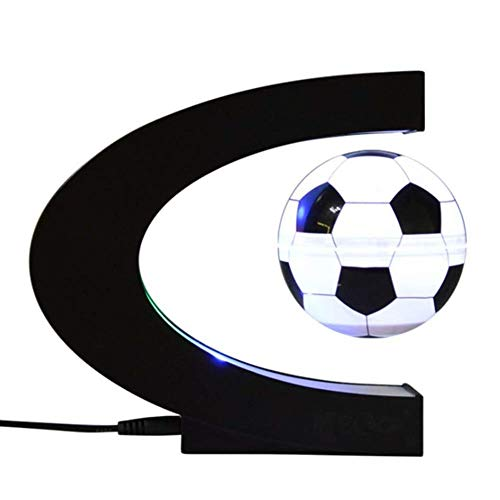 Geburtstagsgeschenk Magnetschwebekugel Mit LED Lichter Büro Wohnzimmer Desktop Dekoration Dekoration Geschenke, 3 Zoll - Orbit 4 Licht