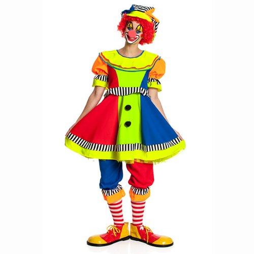 Damen Clown Kostüm - Kostümplanet® Clown-Kostüm Damen mit Clown-Mütze Größe 36/38