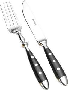 Esmeyer 229-203 / Nostalgie Couverts à steak Acier 18/0 poli 12 pièces
