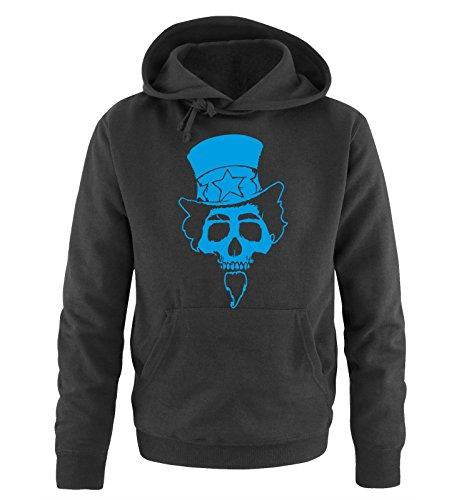 Comedy Shirts - AMERICAN SKULL - Uomo Hoodie cappuccio sweater - taglia S-XXL different colors nero / blu