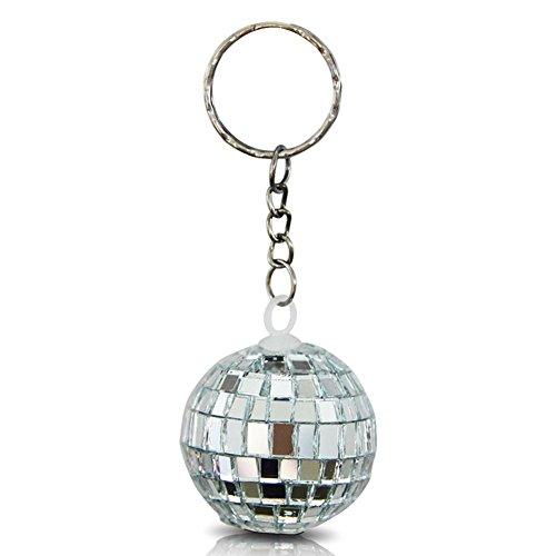 12 x HC-Handel 916430 Schlüsselanhänger Discokugel Disco Kugel silber 4 cm