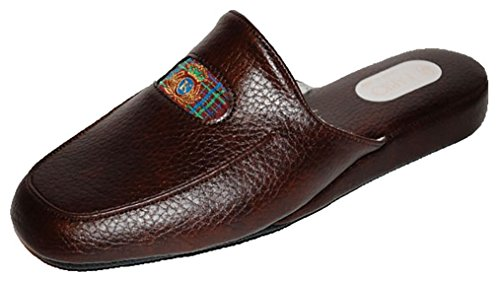 promo code fc04f 84981 FABIO Pantofole Uomo Ciabatte Casa Blu Marrone Marroni ...