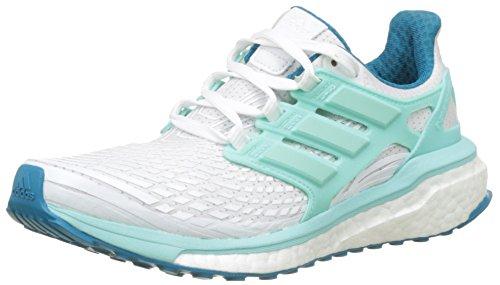 adidas Damen Energy Boost Laufschuhe, Weiß (Footwear White/Energy Aqua/Mystery Petrol), 40 EU