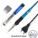Fer à Souder Kit avec Support de Soudure, stylo pour fer à souder électrique réglable en température de 220V à 60W avec 5 embouts de soudure supplémentaires pour le soudage