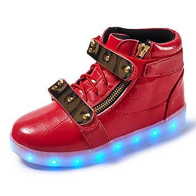 Aemember Kids Boy Girl's Sneakers illumina le scarpe Comfort Primavera Estate Autunno Inverno Athletic outdoor casual Walking gancio LED & Loop HeelRuby bassa US1.5 / EU33 / UK14 Little Kids