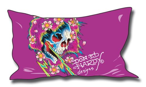 Ed Hardy Beautiful Ghost (Ed Hardy Kissenbezug Beautiful Ghost 50x90cm)