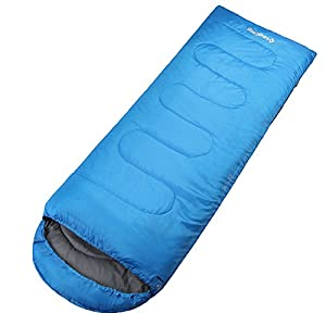 KingCamp Oasis 250 Lightweight Mummy Blue Right Sleeping Bag 100% Polyester For Camping Hiking Trekking Warm Can Be Joined Together