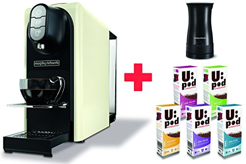 Morphy-Richards-Accents-Ivory-Cream-Coffee-Machine-Milk-Frother-50-Coffee-Capsules-Nespresso-Compatible