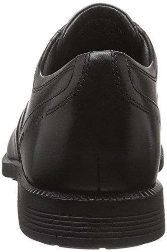 Rockport Dressports Modern Wingtip, Scarpe Stringate Basse Brogue Uomo Nero (Black Leather)
