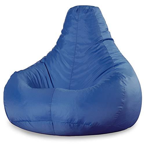Bean Bag Bazaar Recliner, Blu, Poltrona a Sacco a Gioco - 90cm x 73cm, Impermeabile, Poltrone a Sacco per Interni ed Esterni, Soggiorno