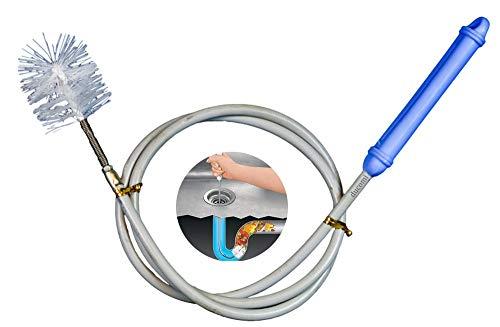 Ducomi Sturalavandino - Cepillo con Tubo Flexible 140 cm para Tuberías, Lavamanos y Duchas - Sonda Manual Que Libera Las Tuberías de Impurezas Que Puedan Bloquear el Paso del Agua - Fácil Uso