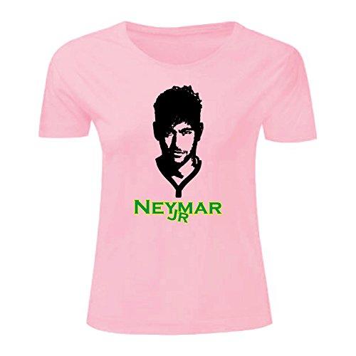 Art T-shirt, Maglietta Neymar Jr, Donna Rosa