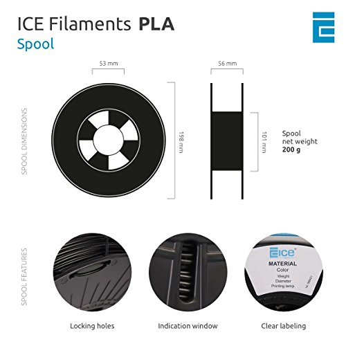 ICE FILAMENTS ICEFIL3PLA008 PLA Filament, 2,85 mm, 0,75 kg, Bold Blue - 5