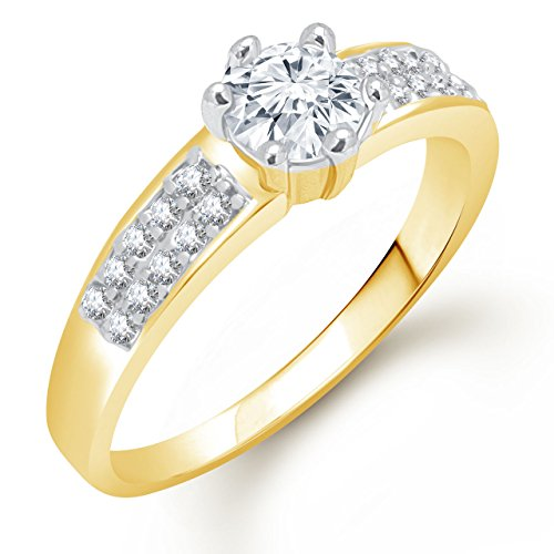 Meenaz Solitaire Ring Valentine Love Single Stone Ring For Girls & Women...