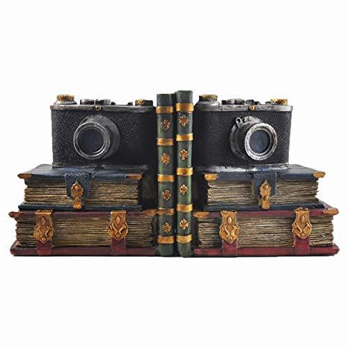 Retro Kamera Regal ordentlich Buchstützen, Hipster, Vintage-Fotografie, Arbeitszimmer CDs/DVDs