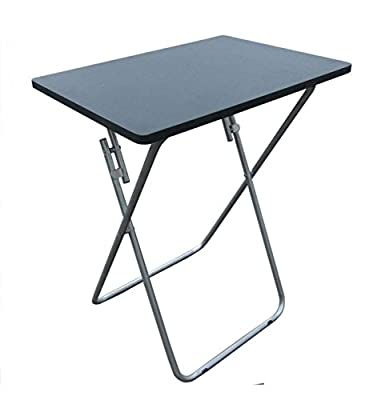 Small Foldable TV Table Bed Side Tea Coffee Folding Table With Metal Legs BLACK produced by Wilsons - quick delivery from UK.