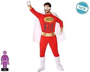Atosa-61525 Atosa-61525-Disfraz Heroe Comic-Adulto Hombre, Color rojo, M a L (61525