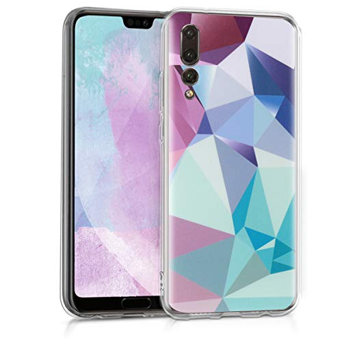 kwmobile Huawei P20 Pro Hülle - Handyhülle für Huawei P20 Pro - Handy Case in Hellblau Rosa Blau