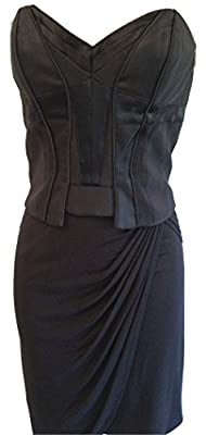 Karen Millen Jersey Draped Corset Dress Black