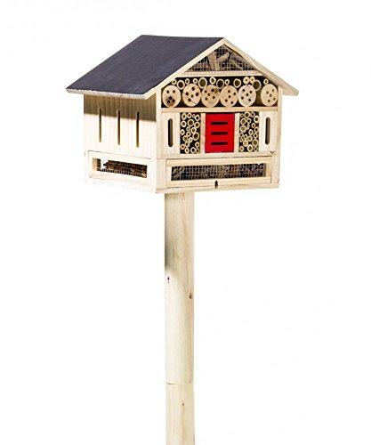 #Insektenhotel auf Standfuß Bienenhotel Insektenhaus Nistkasten Brutkasten Echtholz#