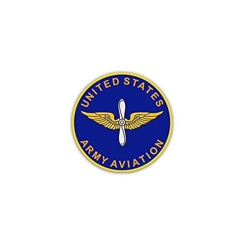 Aufkleber / Sticker -United States Army US Army Aviation Fort Rucker Alabama Luftfahrt Pionier Streitkräfte Vereinigte Staaten Militär Wappen Abzeichen Emblem 7x7cm #A2170 (Armee-luftfahrt-abzeichen)