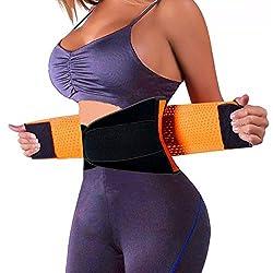 SchwabMarken Sport Powergürtel Waisttrainer Taillengürtel Korsett, in Orange Größe Large, Powerbelt, Cincher, Shaper, Unterstützung fürs Training, Fitness