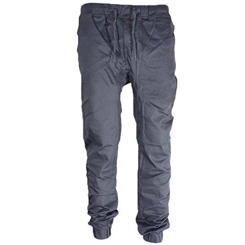 Männer Jogger Pants Twill Für (MIOIM Herren Twill Jogging Hose Cargo Chino Sporthose Slim Pant TrainingshoseArmy Style Baumwolle)