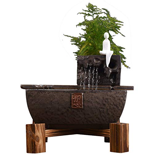 GX&XD Kreative Steinerie-Brunnen Räucherstäbchenhalter, Keramik, Backflow, handgefertigt, künstlerische Aromatherapie, Ofen, Antik-Dekoration, Glücksgeschenk a -