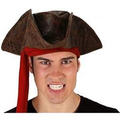 Sombrero de pirata, color marrón, unisex.