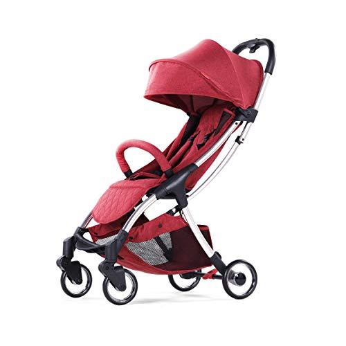 CHEERALL Umbrella Kinderwagen Leichter Klappkinderwagen mit Verstellbarer Rückenlehne, Vierrad-Dämpfung, Vier Jahreszeiten für Kinder von der Geburt bis zum Alter von 3 Jahren,Red