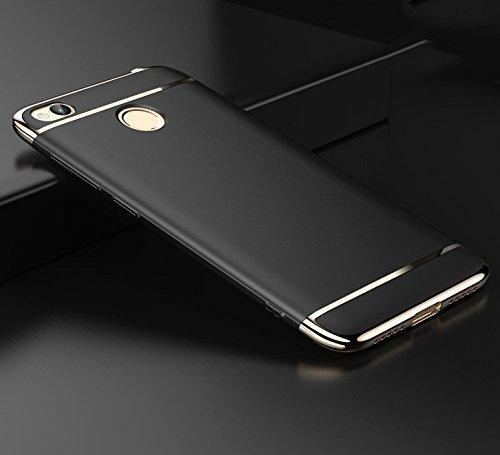 Redmi 4 Covers / Redmi 4 Case / Xiaomi Redmi 4 [May 2017 Launch] Original RIdhaniyaa Luxury Case, Slim Armor Full Body 360 Degree Protection [True Fashion Statement & Metal Feel] Back Cover Case For Mi Redmi 4. (BLACK)